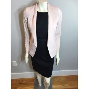 H&M Pastel Pink Blazer with Hidden Pockets Size 4